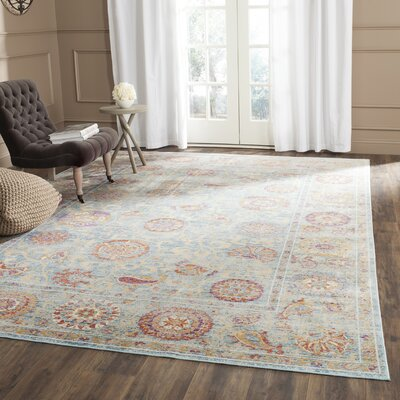 Shady Dale Light Blue Area Rug Rug Size: 53 x 76