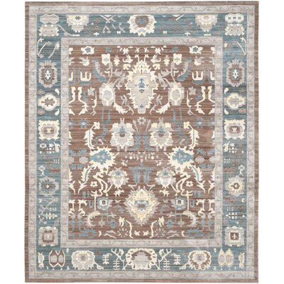 Regis Chocolate/Alpine Area Rug Rug Size: Rectangle 8' x 10'