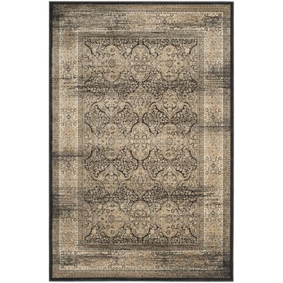Mainville Black Area Rug Rug Size: Rectangle 51 x 77