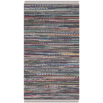 Hatteras Contemporary Hand-Woven Grey/Red/Green Area Rug Rug Size: Rectangle 9 x 12