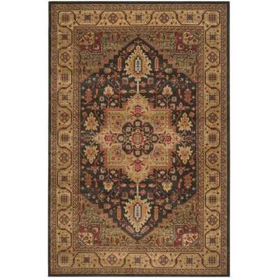 Alto Navy/Natural Area Rug Rug Size: 51 x 77