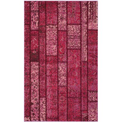 Pink Area Rug Rug Size: 9 x 12