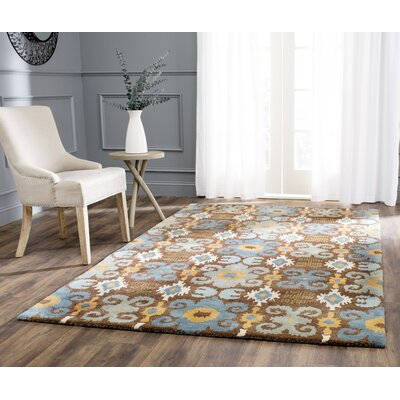 Dorthy Hand-Tufted Brown/Blue Area Rug Rug Size: Rectangle 5 x 8