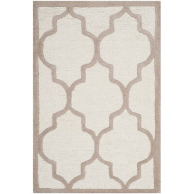 Charlenne Hand-Tufted Ivory/Beige Area Rug Rug Size: Rectangle 3 x 5