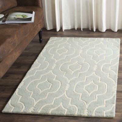 Wilkin Hand-Tufted Gray/Ivory Area Rug Rug Size: Rectangle 2 x 3