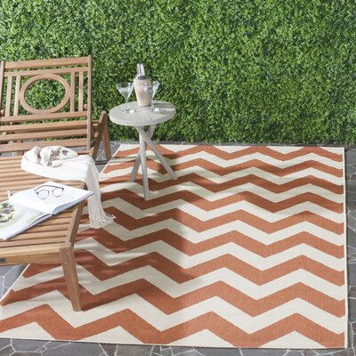 Mullen Terracotta/Beige Indoor/Outdoor Area Rug Rug Size: Runner 23 x 8