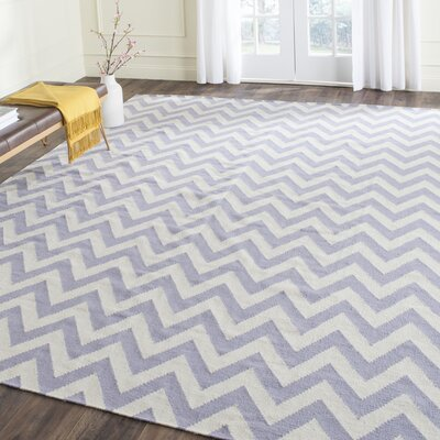 Moves Like Zigzagger Purple Rug Rug Size: Rectangle 8 x 10