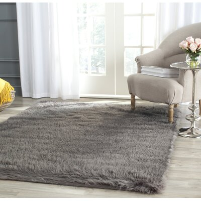 Nichols Hand-Tufted Gray Area Rug Rug Size: Rectangle 6 x 9