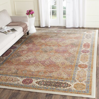 Enlow Ivory Area Rug Rug Size: Rectangle 53 x 76