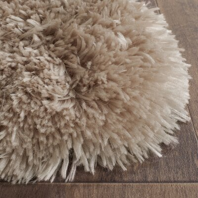 Dax Hand-Tufted Taupe Area Rug Rug Size: Rectangle 5 x 7