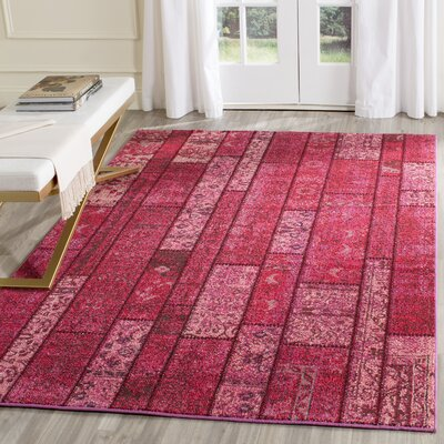 Pink Area Rug Rug Size: Rectangle 4 x 57