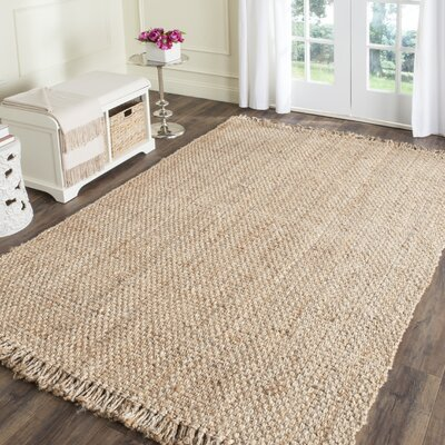 Elizabeth Hand-Woven Beige Area Rug Rug Size: Rectangle 10 x 14