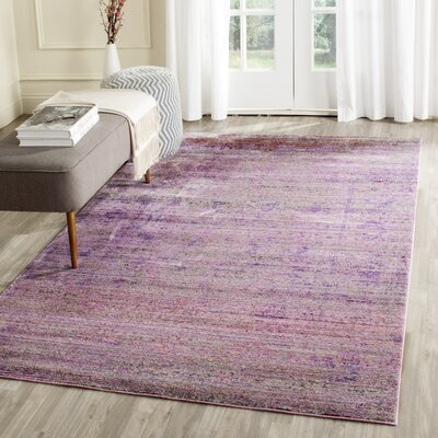 Doline Purple Area Rug Rug Size: Rectangle 6 x 9