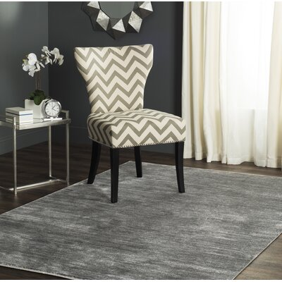 Harloe Solid Gray Area Rug Rug Size: 51 x 76