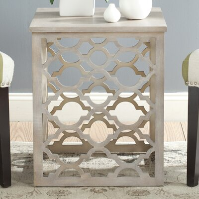 Lonny End Table in Distressed Grey Color: Grey