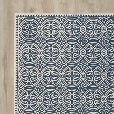 Martins Blue Area Rug Rug Size: 4 x 6