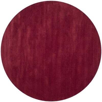 Trost Red Area Rug Rug Size: Round 6