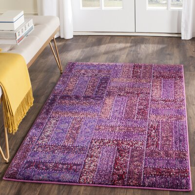 Purple Area Rug Rug Size: 4' x 5'7