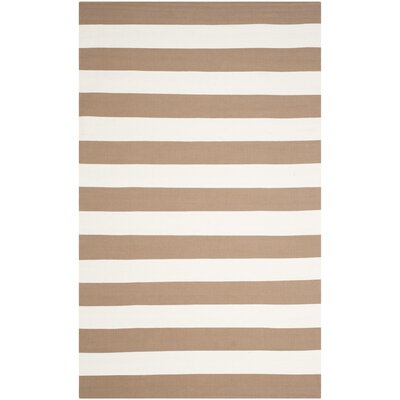 Sky Hand-Woven Sand/Ivory Area Rug Rug Size: Rectangle 26 x 4