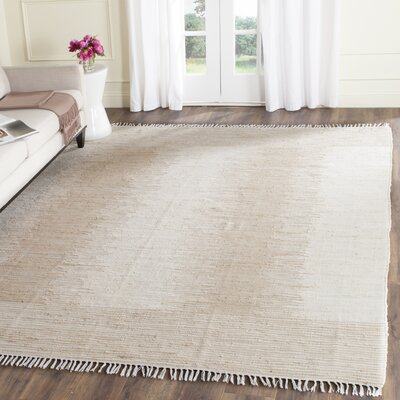 Lotie Hand-Woven Beige Area Rug Rug Size: Rectangle 4 x 6
