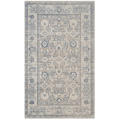 Palaiseur Cotton Taupe/Ivory Area Rug Rug Size: Rectangle 4 x 6