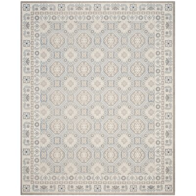 Patina Light Gray/Ivory Area Rug Rug Size: Rectangle 10 x 14