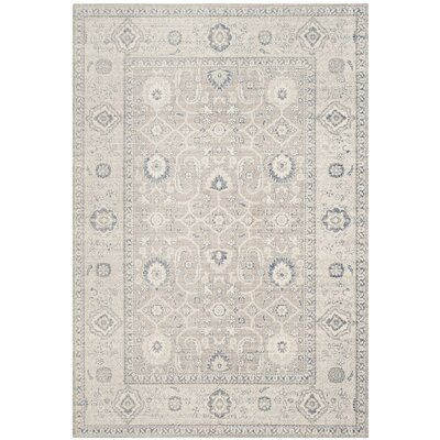 Palaiseur Taupe/Ivory Area Rug Rug Size: Rectangle 67 x 9
