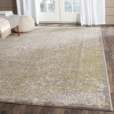 Auguste Gray/Green Area Rug Rug Size: 9 x 12