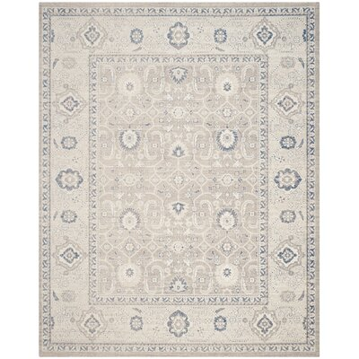 Palaiseur Taupe/Ivory Area Rug Rug Size: Rectangle 8 x 10