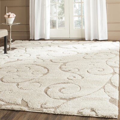 Henderson Area Cream/Beige Rug Rug Size: Rectangle 86 x 12