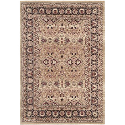 Marion Cream/Navy Area Rug Rug Size: Rectangle 4 x 6