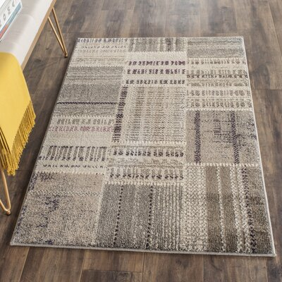 Tucker Madera Gray Area Rug Rug Size: Rectangle 4 x 57