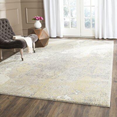 Cabinwood Ivory/Gray Area Rug Rug Size: 67 x 92