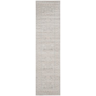 Bertille Gray/Light Gray Area Rug Rug Size: Runner 22 x 8