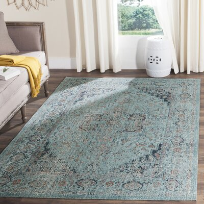 Manya Light Blue Area Rug Rug Size: Runner 22 x 8