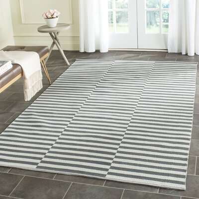 Boody Ivory/Gray Area Rug Rug Size: 8 x 10