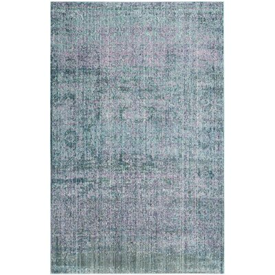 Mulhall Purple/Blue Area Rug Rug Size: Rectangle 4 x 6