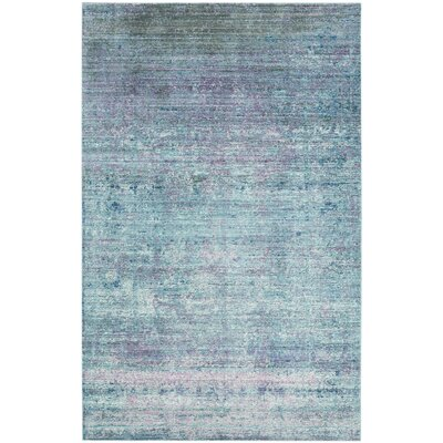 Mulhall Purple/Blue Area Rug Rug Size: Rectangle 5 x 8
