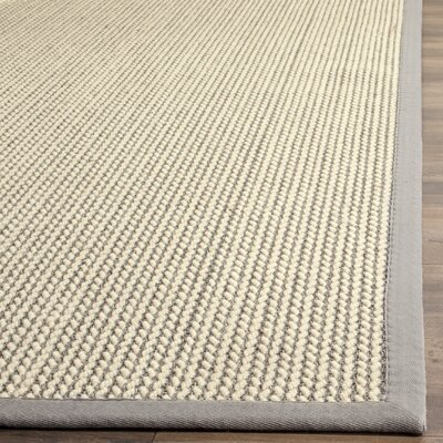 Hand-Woven Gray Area Rug Rug Size: Rectangle 3 x 5
