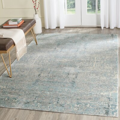 Celeta Teal Area Rug Rug Size: Rectangle 6 x 9