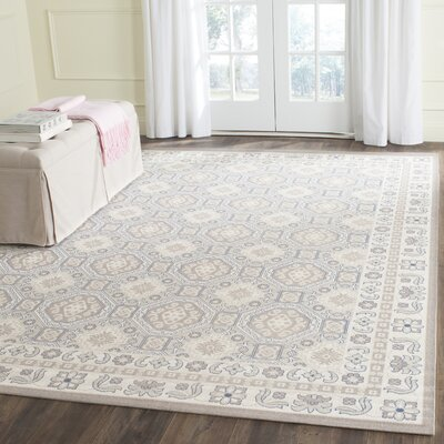 Patina Light Gray/Ivory Area Rug Rug Size: 10 x 14