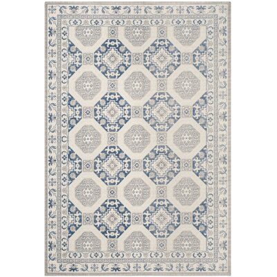 Nielsen Gray/Blue Area Rug Rug Size: Rectangle 53 x 76