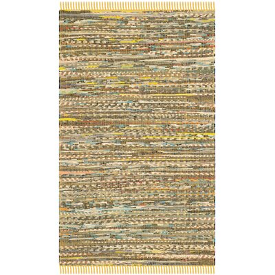 Havelock Contemporary Hand-Woven Cotton Yellow Area Rug Rug Size: Rectangle 3 x 5