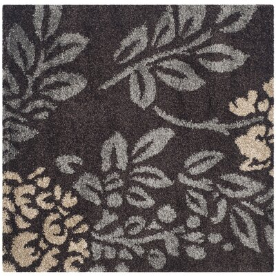 Duffey Dark Brown/Beige Area Rug Rug Size: Square 67