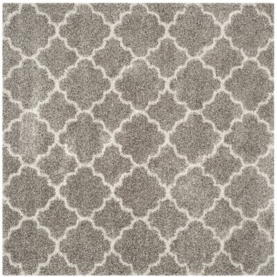 Klar Gray/Ivory Area Rug Rug Size: Square 9