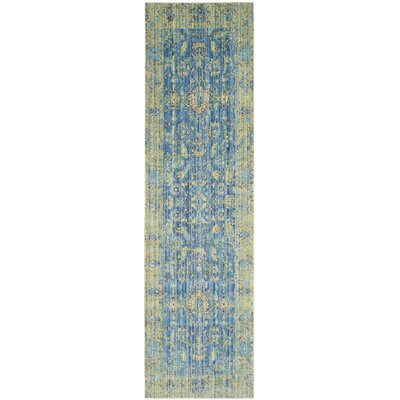 Thanh Blue Area Rug Rug Size: Runner 23 x 8