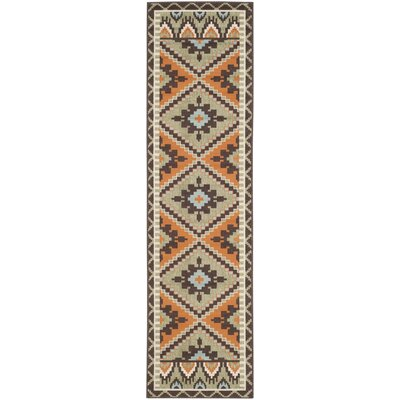 Henbury Brown Indoor/Outdoor Area Rug Rug Size: Runner 23 x 8