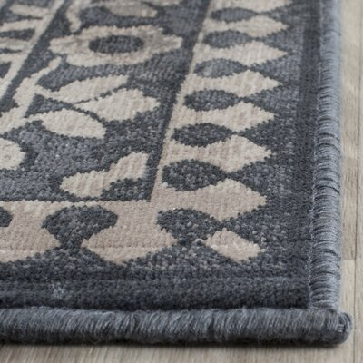 Columbus Blue/Light Gray Area Rug Rug Size: Rectangle 53 x 76