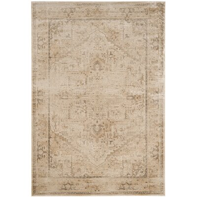 Emily Beige Area Rug Rug Size: Rectangle 33 x 57