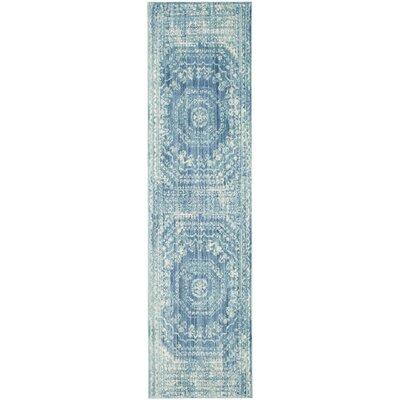 Doline Blue Area Rug Rug Size: Runner 23 x 6